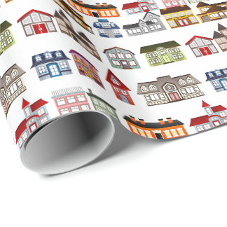 Quirky Home is where the heart is housewarming Wrapping Paper