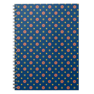 Quirky Jumbo Polka Dots Navy Blue Spiral Notebook