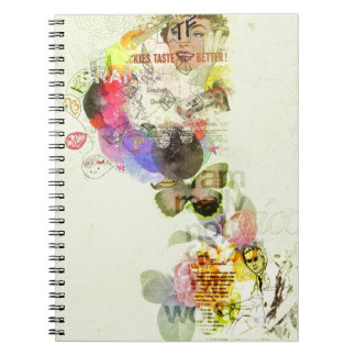 Quirky kitsch mixed media artwork. note books