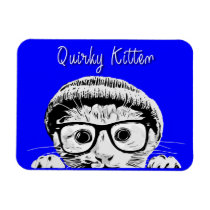 Quirky Kitten 4x3 Magnet