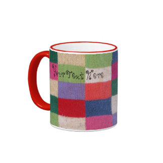 quirky knitted patchwork colourful traditional mugs