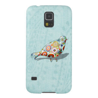 Quirky Little Bird on Whimsical Paisley Pattern Case For Galaxy S5
