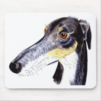 Quirky lurcher dog mouse pad