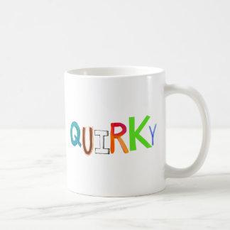 Quirky odd unusual unique fun colorful art word classic white coffee mug