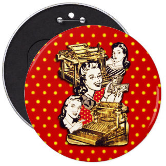 Quirky Office Gals Button
