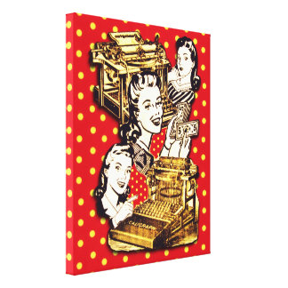 Quirky Office Gals Canvas Print