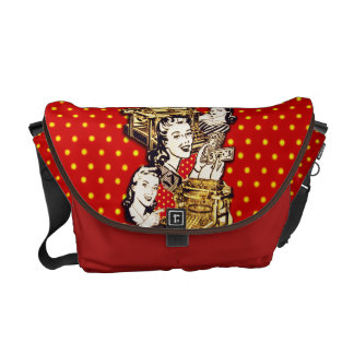 Quirky Office Gals Messenger Bag