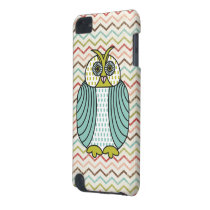 Quirky Owl Colorful Modern Chevron Pattern iPod Touch (5th Generation) Cover