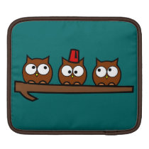 Quirky Owls - Dr T'Wit T'Who iPad Sleeve