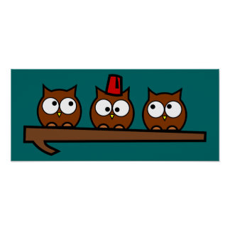 Quirky Owls - Dr T'Wit T'Who Poster