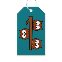Quirky  Owls Gift Tag