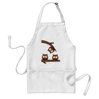 Quirky Owls Out On A Limb Adult Apron