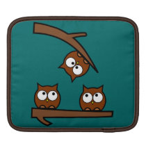 Quirky Owls Out On A Limb Sleeve For iPads