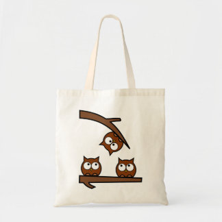 Quirky Owls Out On A Limb Tote Bag