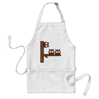 Quirky Owls Round The Bend Adult Apron