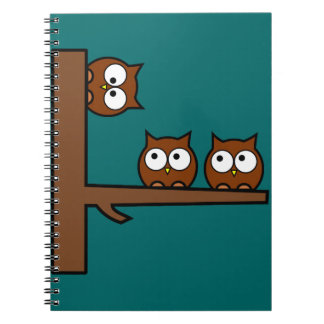Quirky Owls Round The Bend Notebook