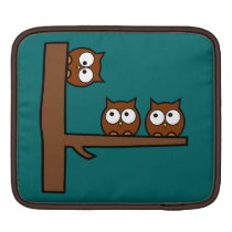 Quirky Owls Round The Bend Sleeve For iPads