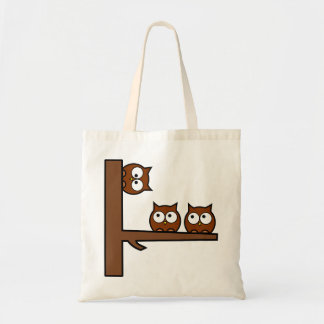 Quirky Owls Round The Bend Tote Bag
