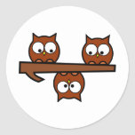 Quirky Owls Sticker