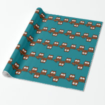 Quirky Owls Wrapping Paper