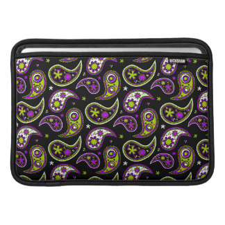 Quirky Paisley Pink and Green MacBook Air Sleeves