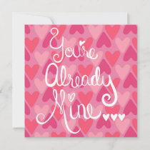 quirky pink valentines day card