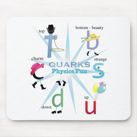Quirky Quarks Physics Fun Mouse Pad