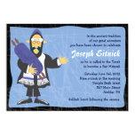 "Quirky Rabbi Bar Bat Mitzvah Invitation Invite 5"" X 7"" Invitation Card"