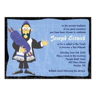 Quirky Rabbi Bar Bat Mitzvah Invitation Invite