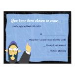 "Quirky Rabbi Bar Bat Mitzvah Invitation Reply Card 4.25"" X 5.5"" Invitation Card"