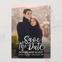 Quirky Script Wedding Save The Date Cards
