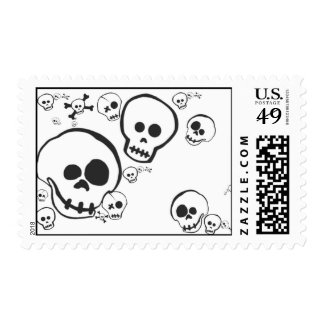 QUIRKY SKULLS POSTAGE STAMP
