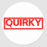 Quirky Stamp Classic Round Sticker