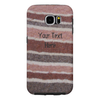 quirky stripes fun brown knitted design galaxy6 samsung galaxy s6 case