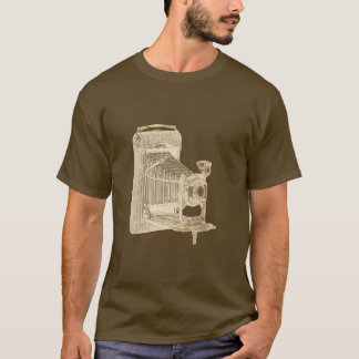 Quirky Style Vintage Camera Masculine Photographer T-Shirt