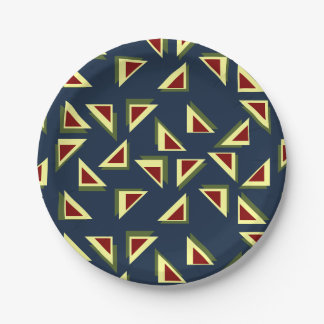 Quirky Triangles Plate