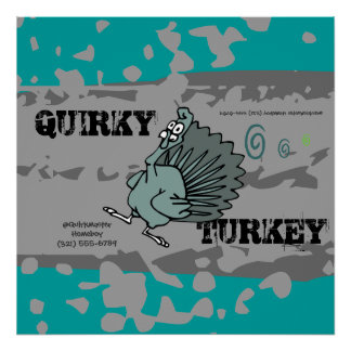 QUIRKY TURKEY Skate Life Wall Art Poster