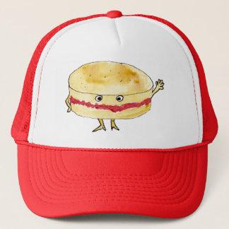 Quirky Victoria Sponge Cake Funny Watercolour Art Trucker Hat