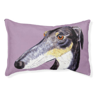 Quirky, whimsical dog original artwork dog bed