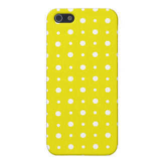 Quirky White Polka Dots on Lemon Yellow Case For iPhone SE/5/5s