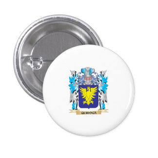 Quiroga Coat of Arms - Family Crest 1 Inch Round Button