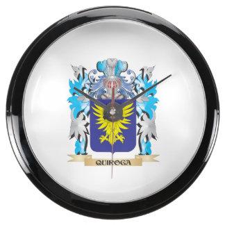 Quiroga Coat of Arms - Family Crest Aquavista Clocks