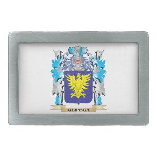 Quiroga Coat of Arms - Family Crest Rectangular Belt Buckle