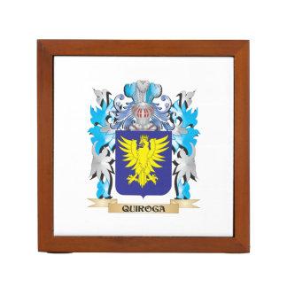 Quiroga Coat of Arms - Family Crest Desk Organizer