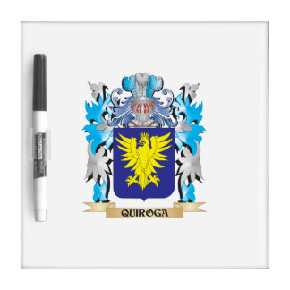 Quiroga Coat of Arms - Family Crest Dry-Erase Board