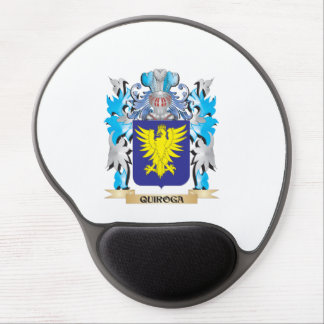 Quiroga Coat of Arms - Family Crest Gel Mouse Pad
