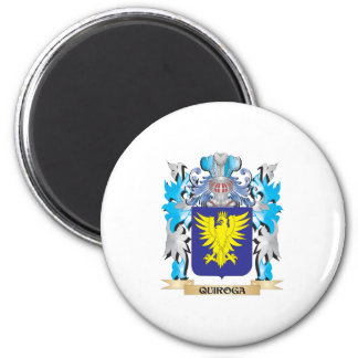 Quiroga Coat of Arms - Family Crest 2 Inch Round Magnet