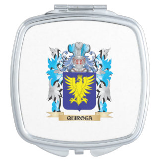 Quiroga Coat of Arms - Family Crest Makeup Mirrors