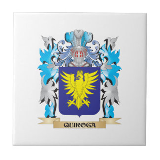 Quiroga Coat of Arms - Family Crest Small Square Tile