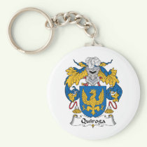 Quiroga Family Crest Keychain